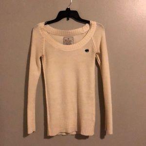 Cream color tunic sweater